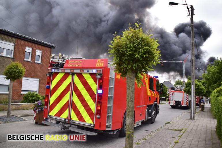 Zware brand bij diepvriesgroentenbedrijf Agrafresh en Braecke Trading Company in Bavikhove