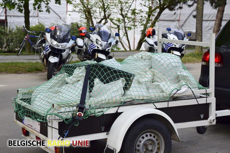 Politie organiseert een controleactie op aanhangwagens