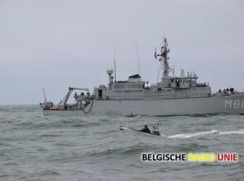 Marine blaast zeemijnen op voor de toegangsroutes van de havens van Antwerpen en Gent