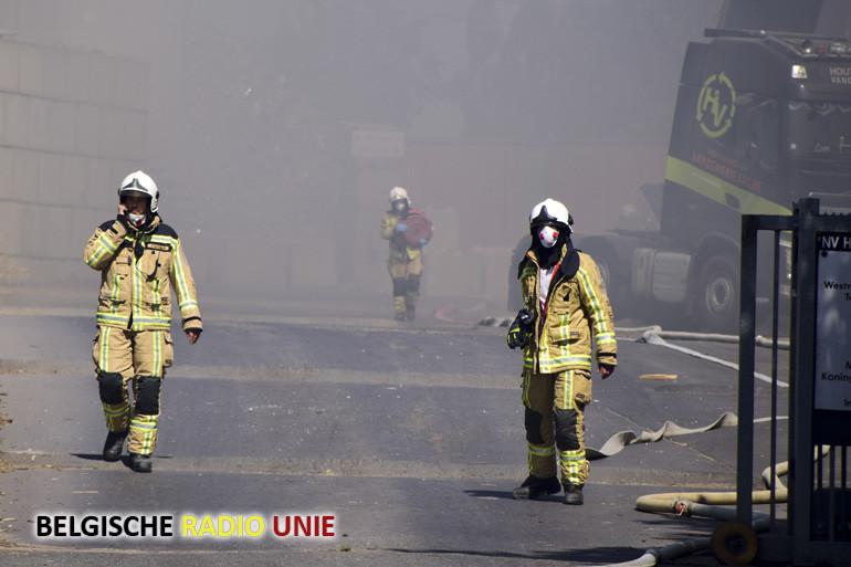 Brand bij houtverwerkingsbedrijf Vandendriessche in Ieper