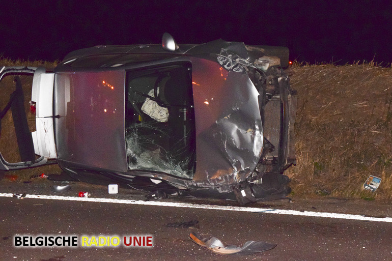 Verkeersongeval op de snelweg A19 ter hoogte van Geluwe