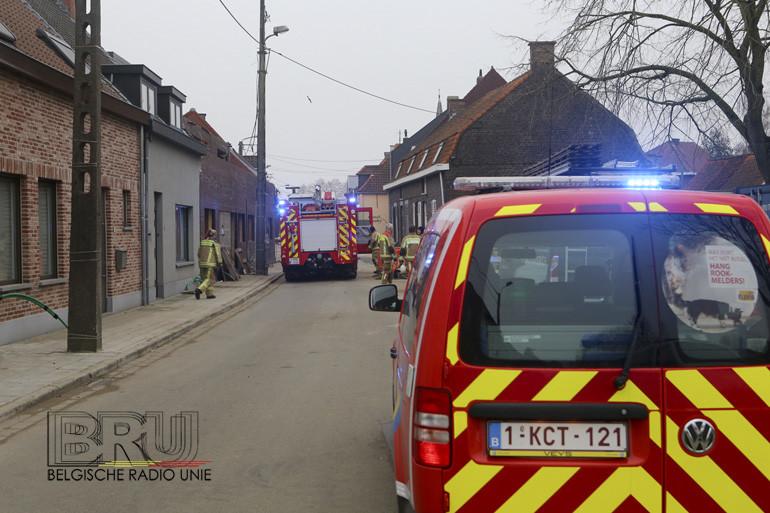Brandje na asfalteringswerken snel geblust in Kuurne