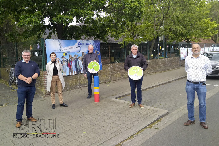 Fietsroute grote fietsexamen voortaan voorzien van permanente bewegwijzering in Kuurne