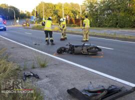 Motorrijder gewond na botsing op de ring van Deerlijk