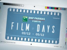 De BNP Paribas Fortis Film Days zijn terug