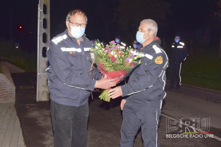 Brandweer kapitein – dienstchef Johan Vandewalle na 44 jaar dienst met pensioen