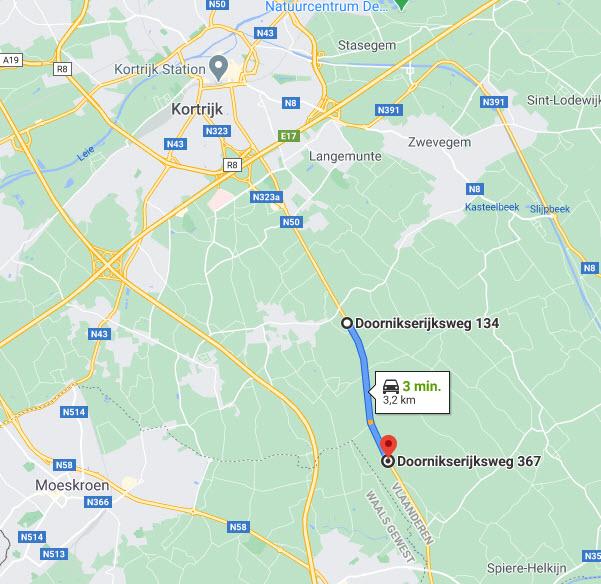 trajectcontrole doornikserijksweg Kortrijk