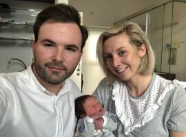 Eerst geboren baby van 2021 in Zuid-West Vlaanderen is woonachtig in Kuurne