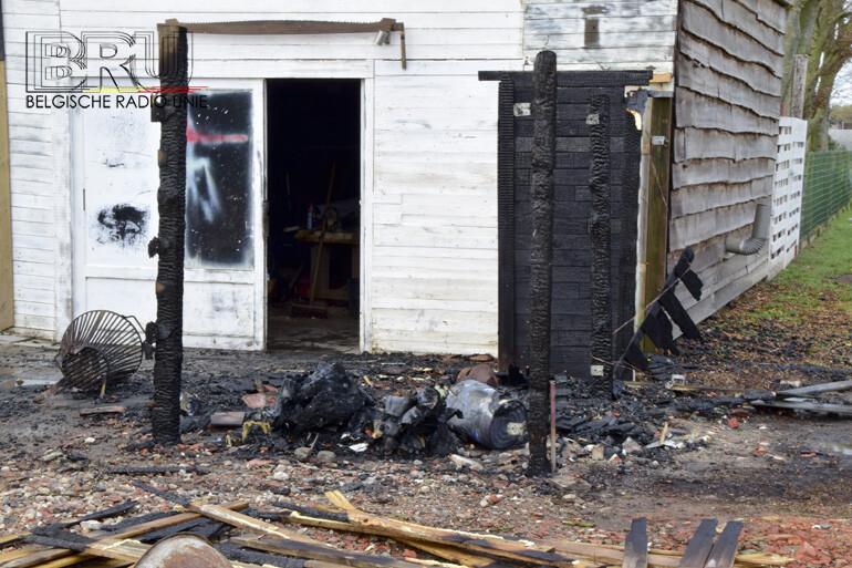 Afvalcontainer vat vuur in Kortemark
