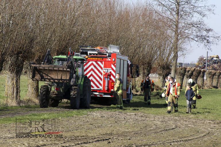 Oproep voor brand bij Casier Recycling bleek afvalbrand van landbouwer te zijn