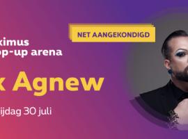 Alex Agnew deze zomer in Proximus Pop-Up Arena