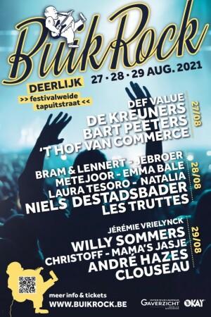 BuikRock 2021: drie dolle festivaldagen met Niels, André, 't Hof en Clouseau
